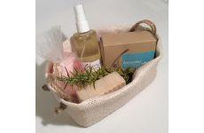 Archontiki Körperpflege Produkte in unserem handgefertigten Geschenkkorb