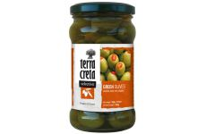 Terra Creta | Grüne Oliven mit Pfeffer (160g)